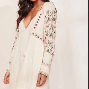 NWT Free People Embroidered Tunic